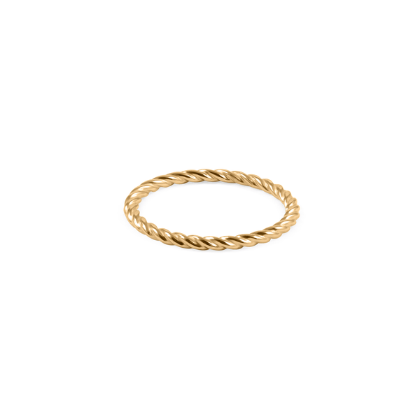 Dune Ring Jewelry useless 24ct Gold Vermeil XS - 49 (15.6mm)