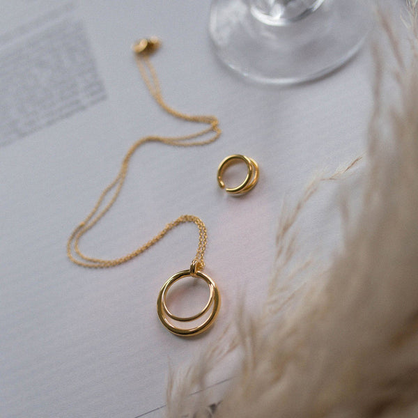 Duo Anhänger - Solid Gold Jewelry stilnest