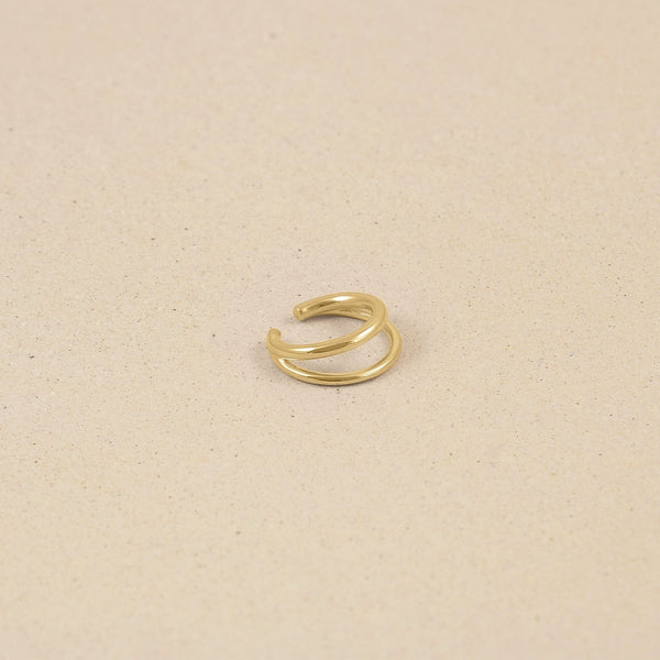 Duo Ear Cuff 14k Massivgold Jewelry stilnest