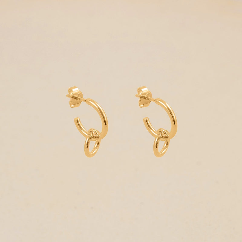 Duo Hoop Ohrringe Jewelry stilnest 24ct Gold Vermeil