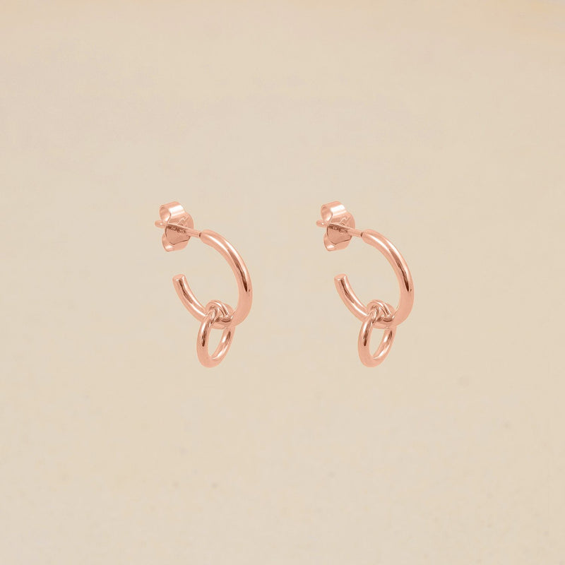 Duo Hoop Ohrringe Jewelry stilnest Rose Gold Vermeil