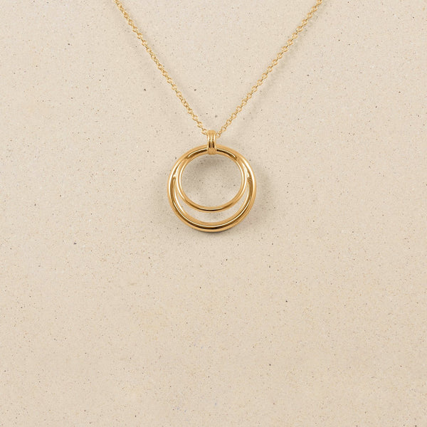 Duo Kette Jewelry stilnest 24ct Gold Vermeil S (45cm)