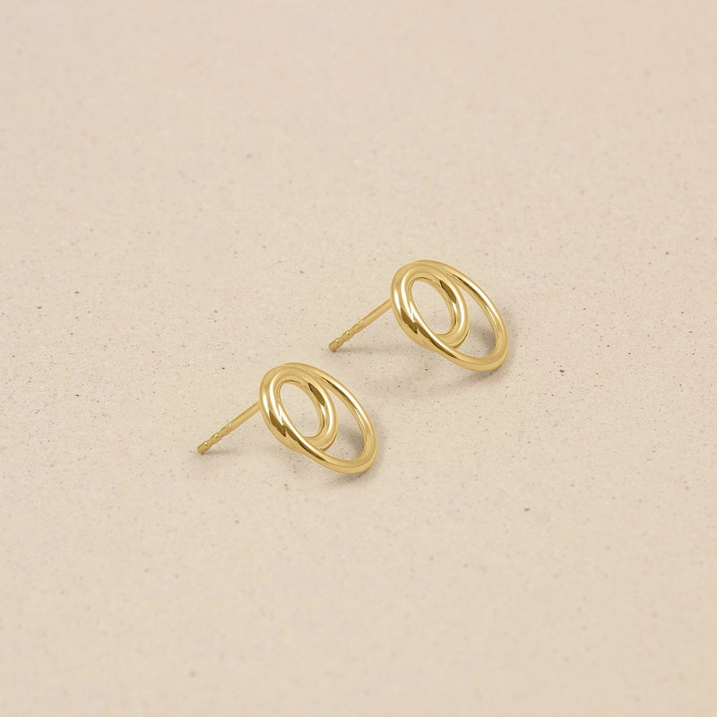 Duo Ohrringe 14k Massivgold Jewelry stilnest