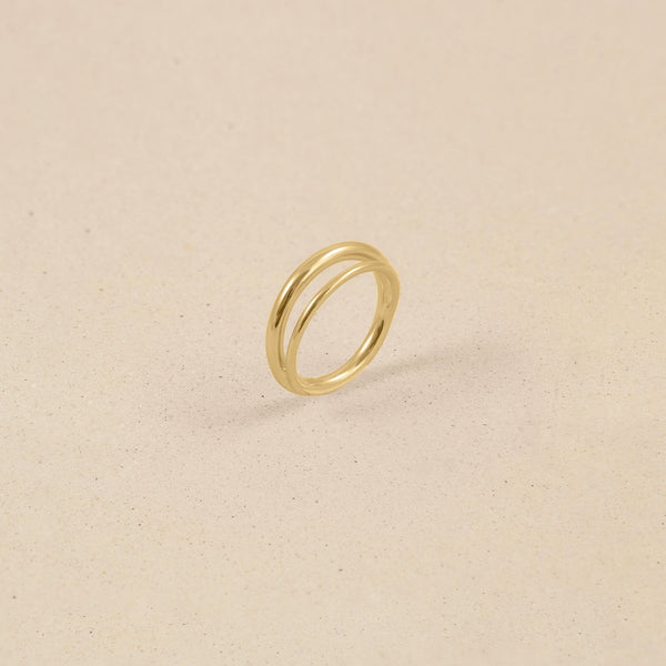 Duo Ring 14k Massivgold Jewelry stilnest 14k Massivgold XS - 49 (15.6mm)