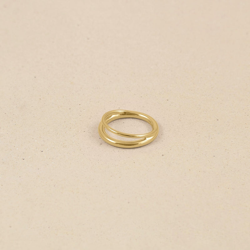 Duo Ring 14k Massivgold Jewelry stilnest