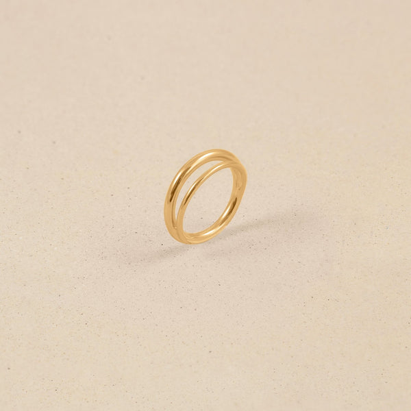 Duo Ring Jewelry stilnest 24ct Gold Vermeil XS - 49 (15.6mm)