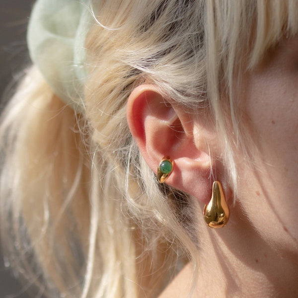 Eden Pea Ear Cuff - Solid Gold Jewelry Stilnest