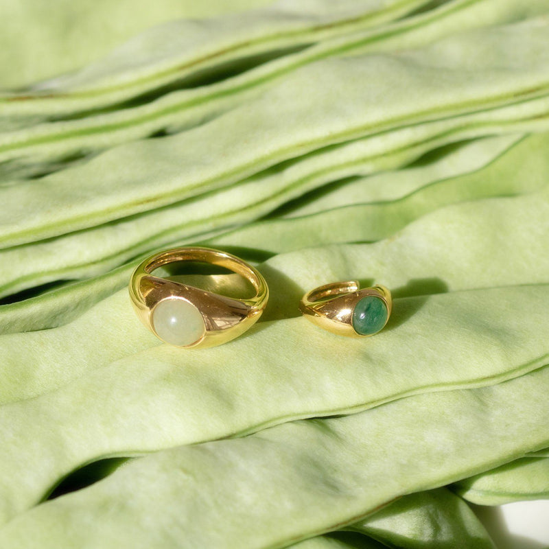 Eden Pea Ring - Solid Gold Jewelry Stilnest