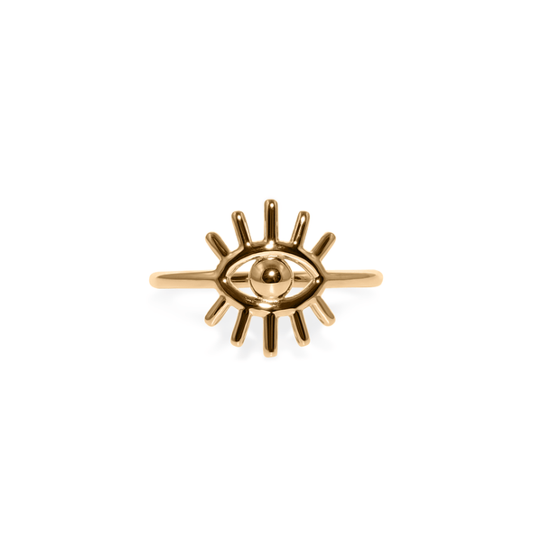 Eye of Clarity - Ring Jewelry kris-the-lioness 24ct Gold Vermeil XS - 49 (15.6mm)