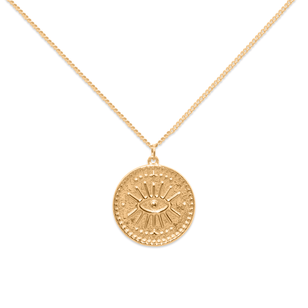 Eye of Intuition - Kette Jewelry kris-the-lioness 24ct Gold Vermeil S (45cm)