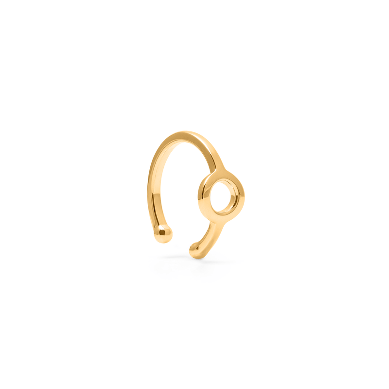 Find Your Shape Circle Earcuff Jewelry adriana-spink 925 Silver Gold Plated