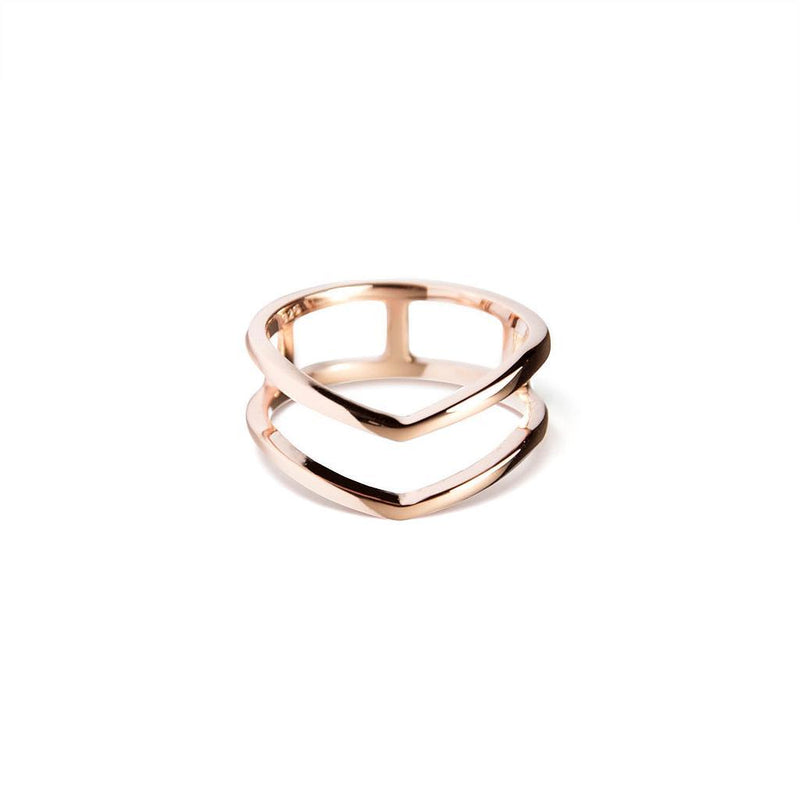 Fine Forms #2 Jewelry nilam-farooq 925 Silver Rose Gold Plated XS - 49 (15.6mm)