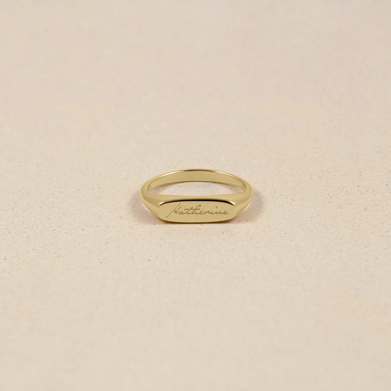 First Name Ring 14k Massivgold Jewelry stilnest 14k Massivgold XS - 49 (15.6mm)