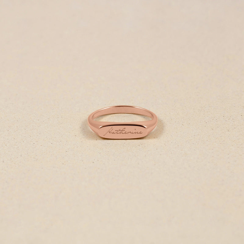 First Name Ring Jewelry stilnest Rose Gold Vermeil S - 52 (16.6mm)