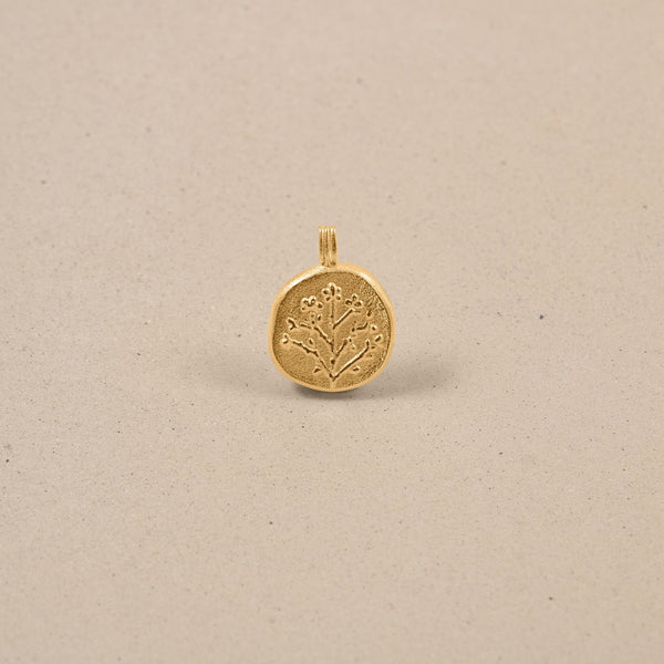 Floral Locket Anhänger Jewelry stilnest 24ct Gold Vermeil