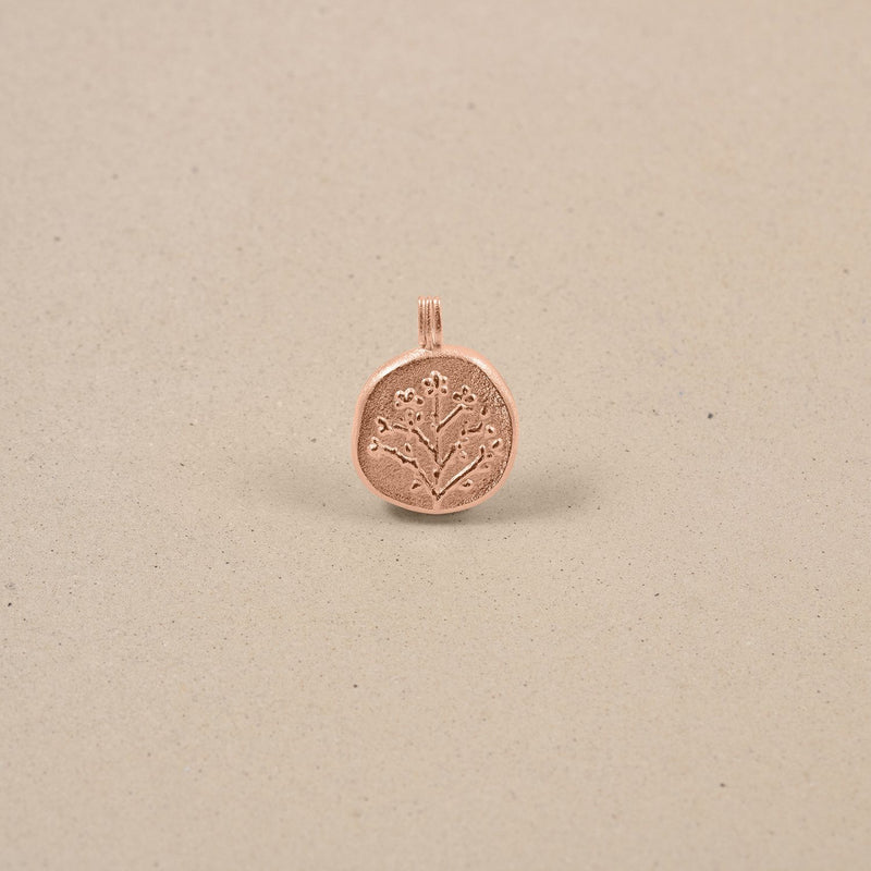 Floral Locket Anhänger Jewelry stilnest Rose Gold Vermeil