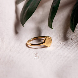 Fluid Letter Ring - Hochglanz Jewelry stilnest