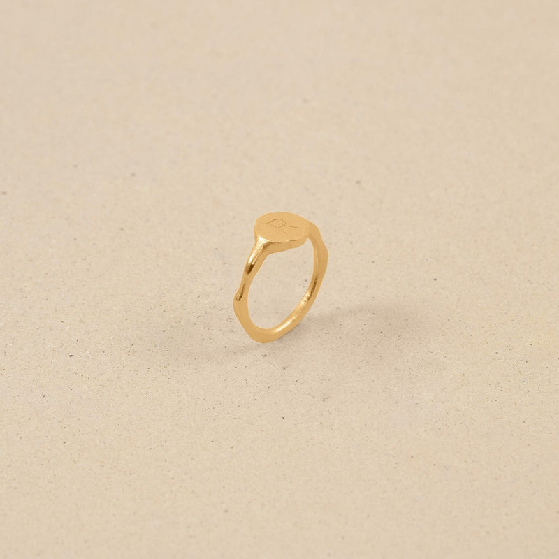 Fluid Letter Ring Jewelry stilnest