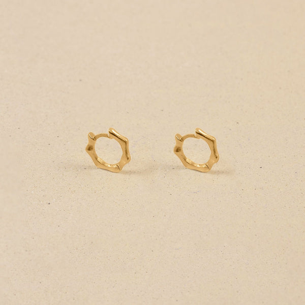 Fluid Small Hoop Ohrringe Jewelry stilnest 24k Gold Vermeil