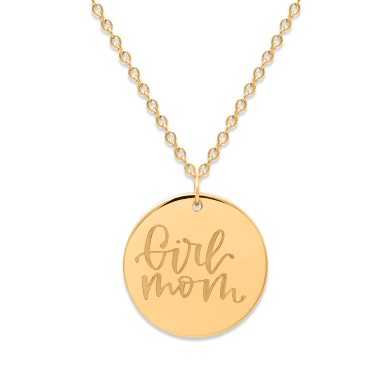 Girl Mom Kette #mommycollection Jewelry frau-hoelle 925 Silver Gold Plated S (45cm)