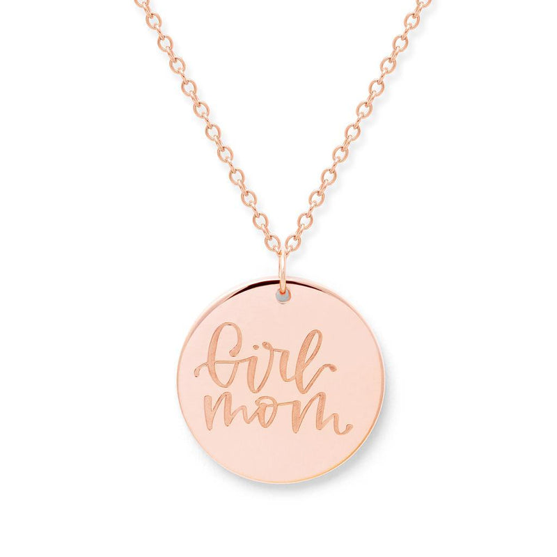 Girl Mom Kette #mommycollection Jewelry frau-hoelle 925 Silver Rose Gold Plated S (45cm)