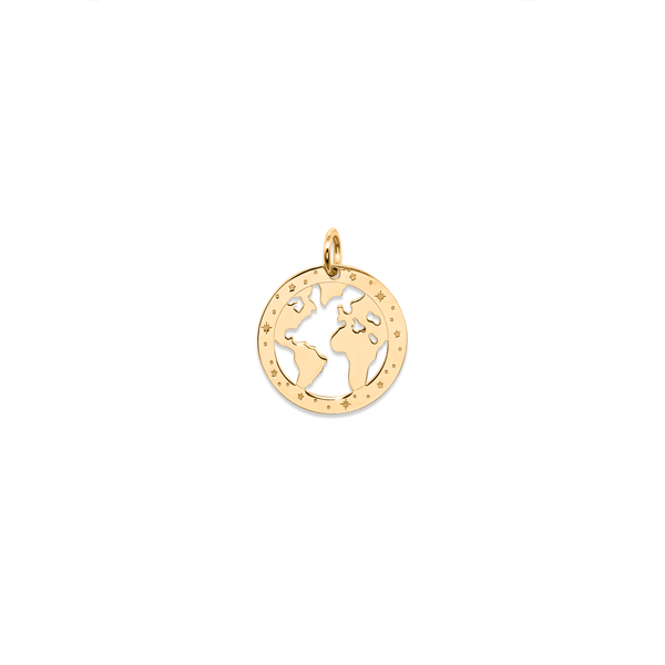 Globetrotter Worldmap Anhänger Jewelry luisa-lion 925 Silver Gold Plated