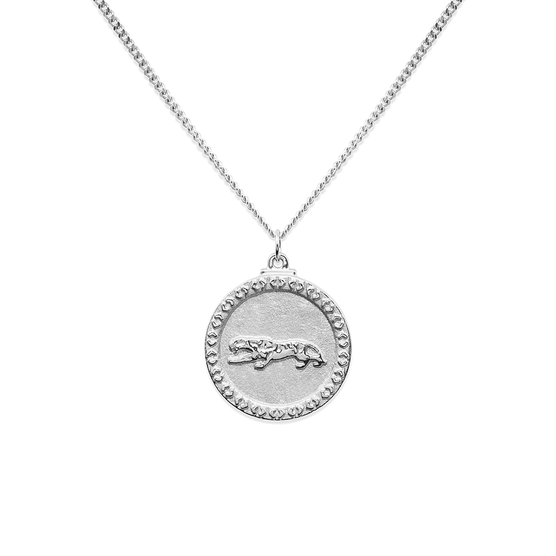 Go Get Em Tiger Kette Jewelry taylor-lashae Rhodium Plated 925 Silver S (45cm)