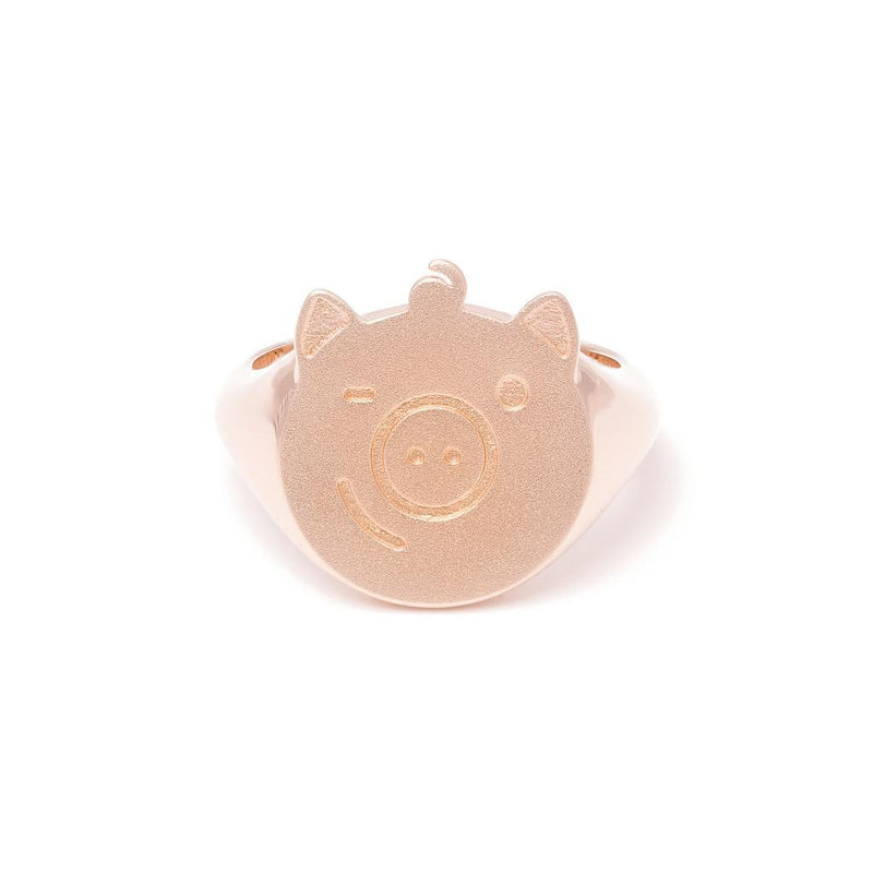 Gold Pigger Ring Frau Jewelry dandy-diary 925 Silver Rose Gold Plated XS - 49 (15.6mm)