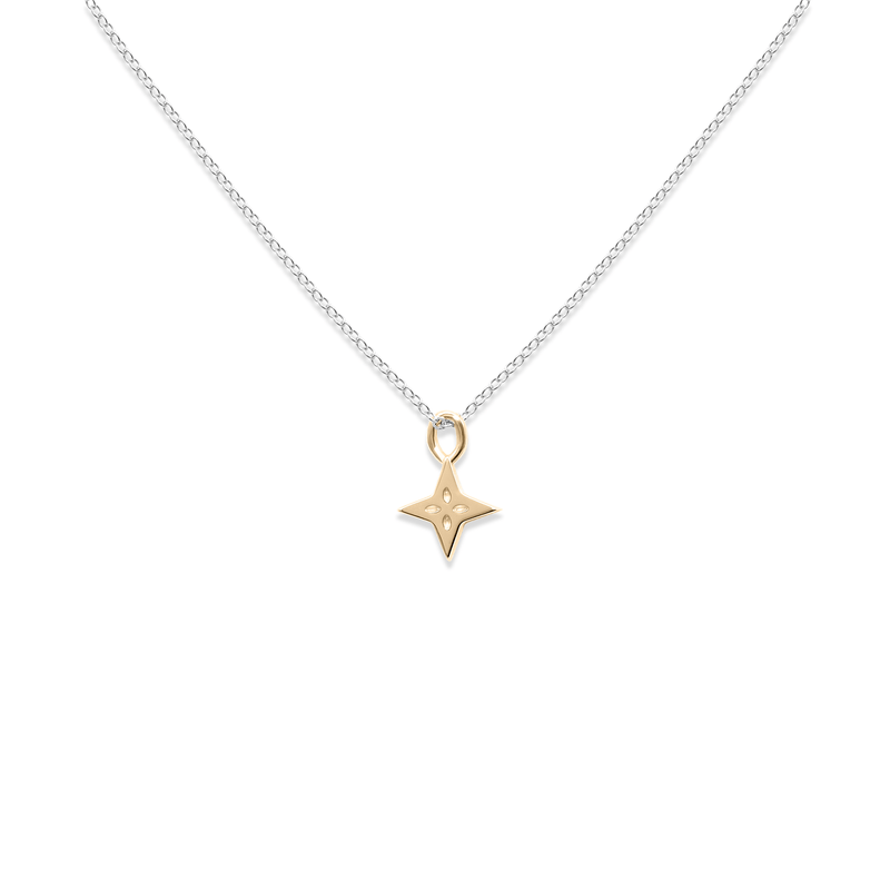 Gold Shooting Star + Silber Ankerkette Jewelry useless