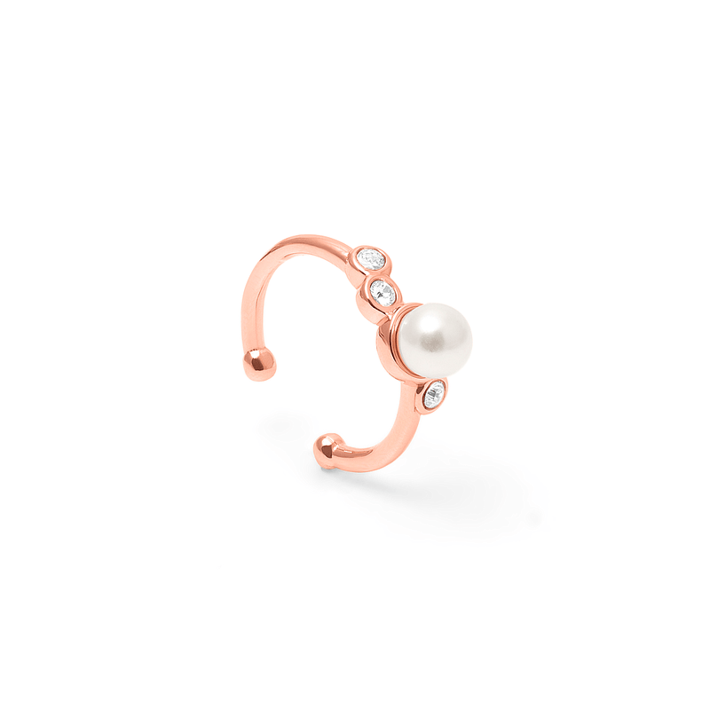 Grace Earcuff Kristall Jewelry anna-frost 925 Silver Rose Gold Plated