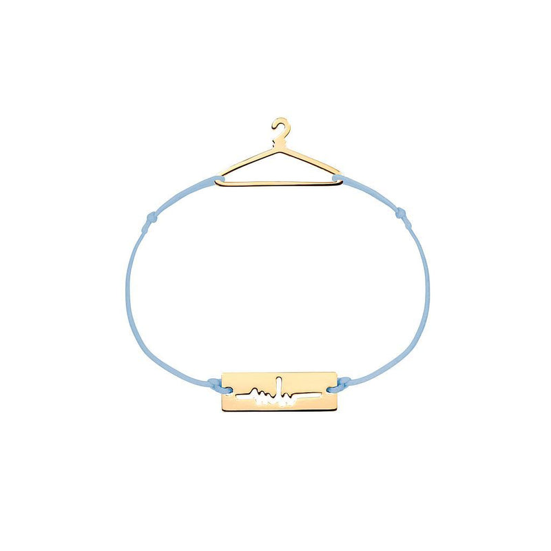 Hanger Charm Jewelry marina-hoermanseder 925 Silver Gold Plated Blue