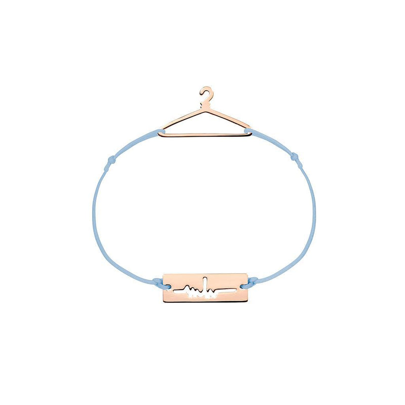 Hanger Charm Jewelry marina-hoermanseder 925 Silver Rose Gold Plated Blue
