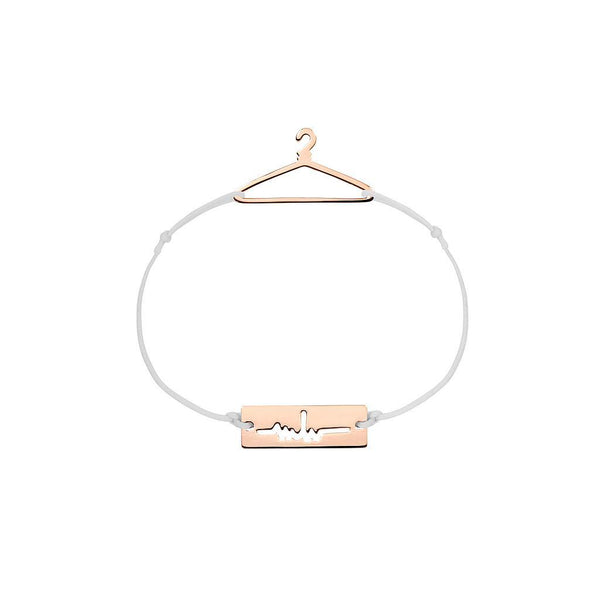 Hanger Charm Jewelry marina-hoermanseder 925 Silver Rose Gold Plated Light Gray