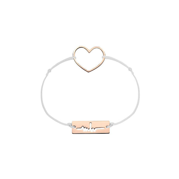 Heart Charm Jewelry marina-hoermanseder 925 Silver Rose Gold Plated Light Gray