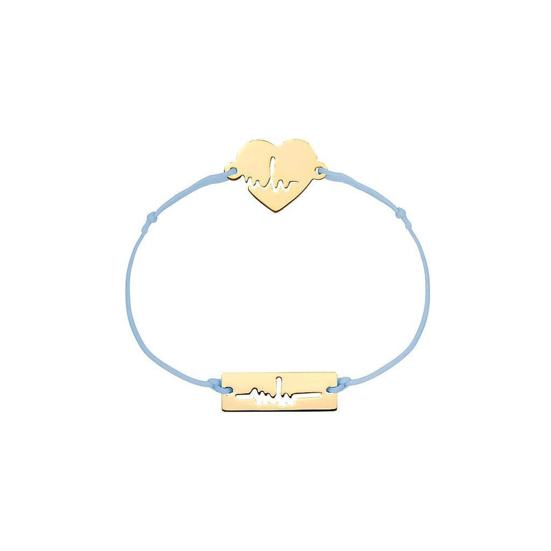 Heartbeat Charm Jewelry marina-hoermanseder 925 Silver Gold Plated Blue