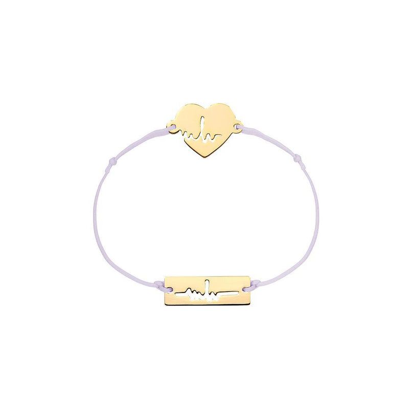 Heartbeat Charm Jewelry marina-hoermanseder 925 Silver Gold Plated Lavender