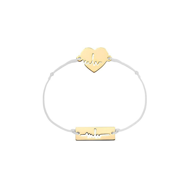 Heartbeat Charm Jewelry marina-hoermanseder 925 Silver Gold Plated Light Gray