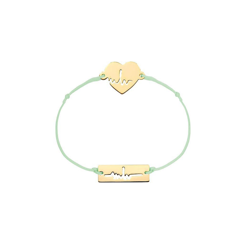 Heartbeat Charm Jewelry marina-hoermanseder 925 Silver Gold Plated Pale Green