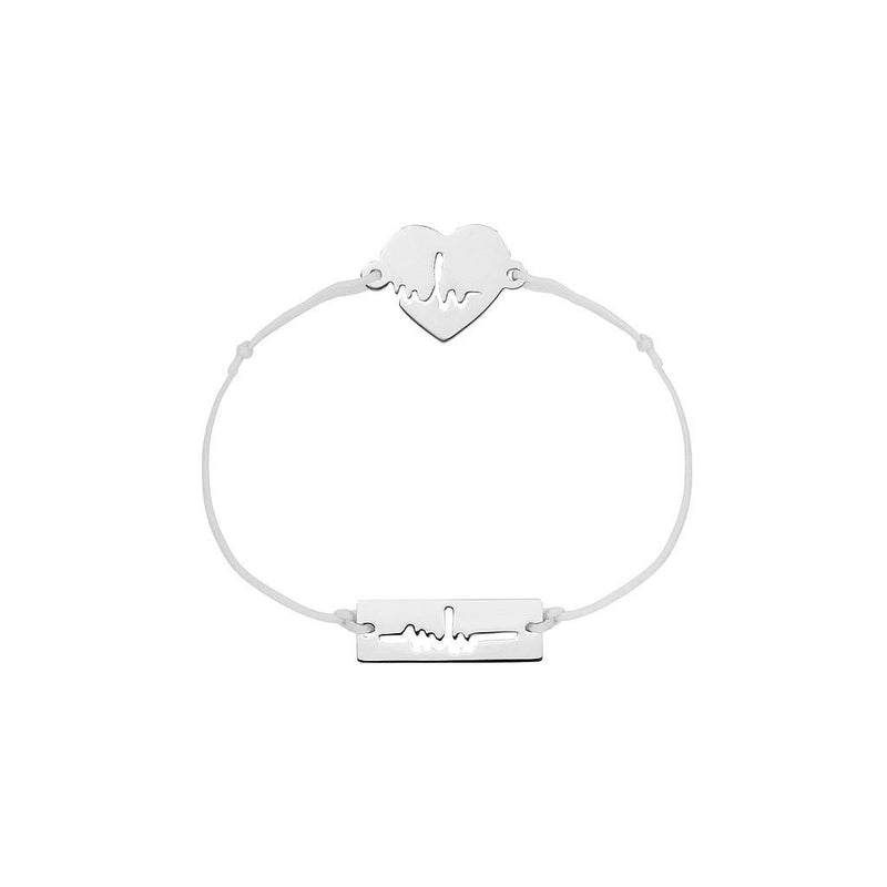 Heartbeat Charm Jewelry marina-hoermanseder 925 Silver Light Gray