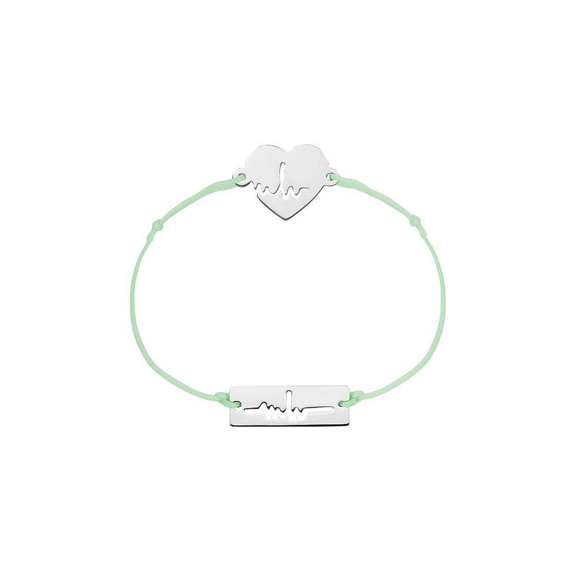 Heartbeat Charm Jewelry marina-hoermanseder 925 Silver Pale Green