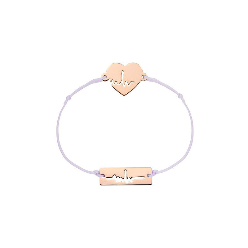 Heartbeat Charm Jewelry marina-hoermanseder 925 Silver Rose Gold Plated Lavender