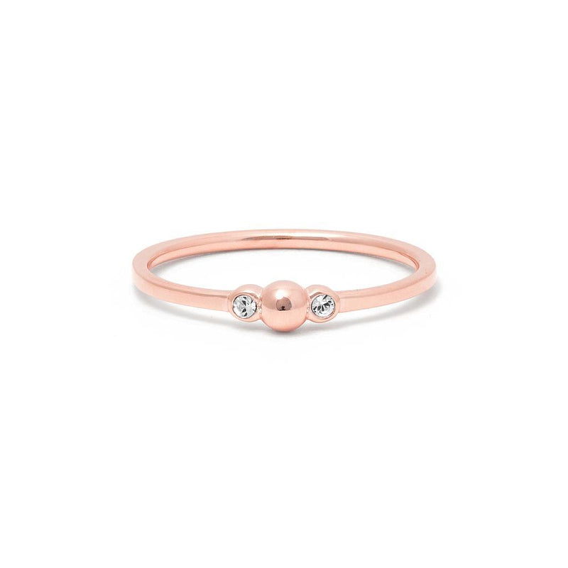 Her Stories And Songs Ring Kristall Jewelry ella-thebee 925 Silver Rose Gold Plated XS - 49 (15.6mm)
