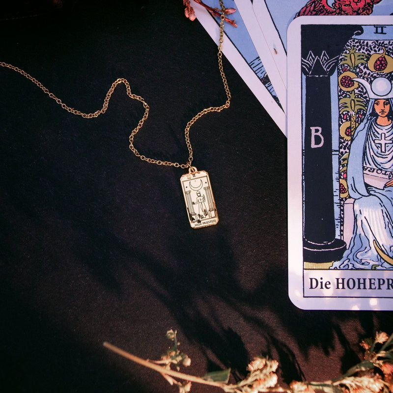 High Priestess Tarot Card Kette Jewelry jacko-wusch