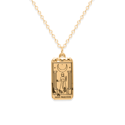 High Priestess Tarot Card Kette Jewelry jacko-wusch 925 Silver Gold Plated S (45cm)