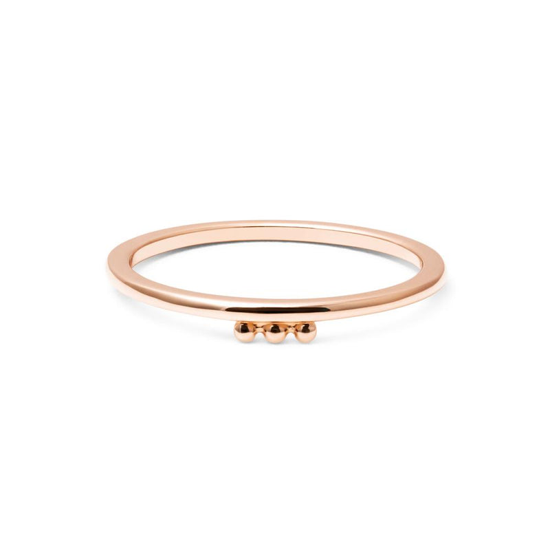 Home Ring Jewelry luna-raye 925 Silver Rose Gold Plated L - 60 (19.1mm)
