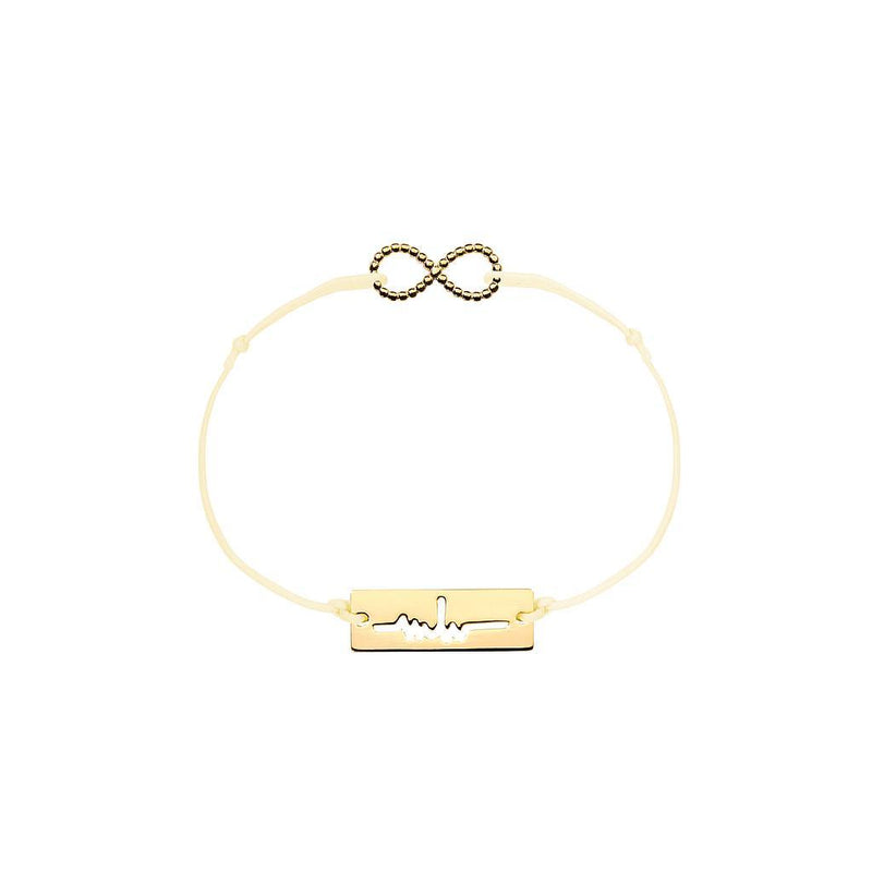 Infinity Charm Jewelry marina-hoermanseder 925 Silver Gold Plated Beige