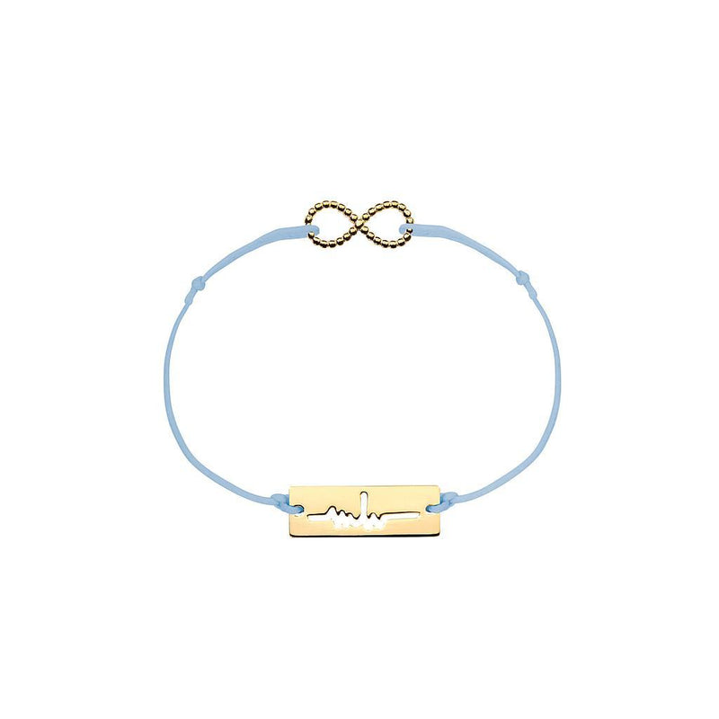 Infinity Charm Jewelry marina-hoermanseder 925 Silver Gold Plated Blue