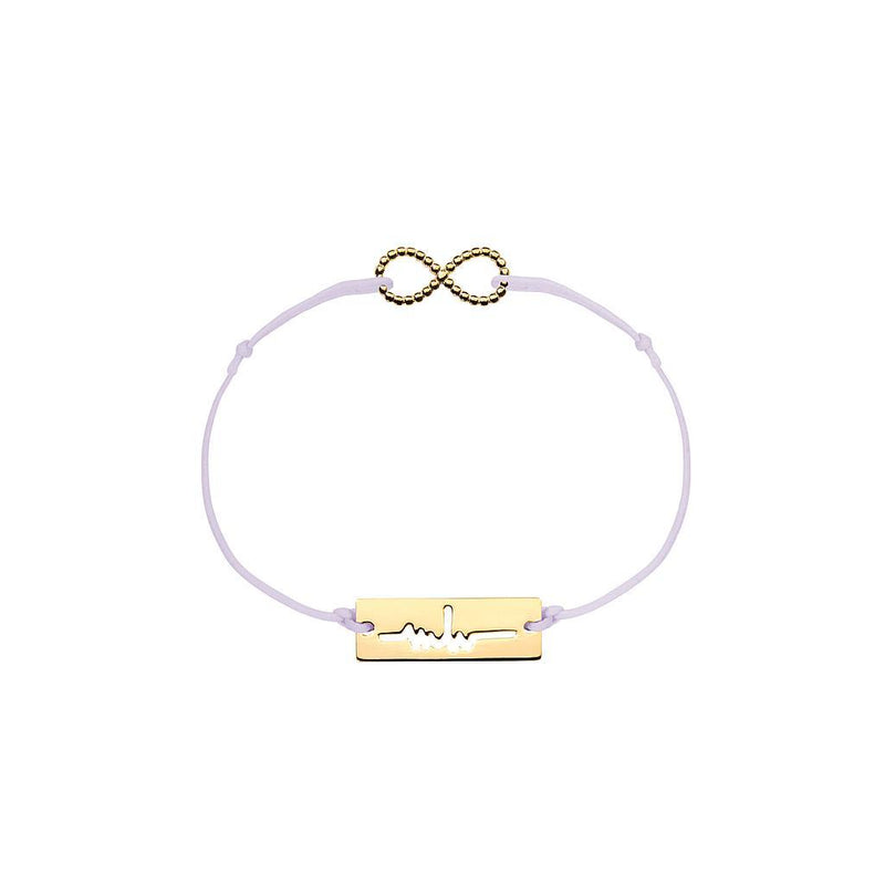 Infinity Charm Jewelry marina-hoermanseder 925 Silver Gold Plated Lavender