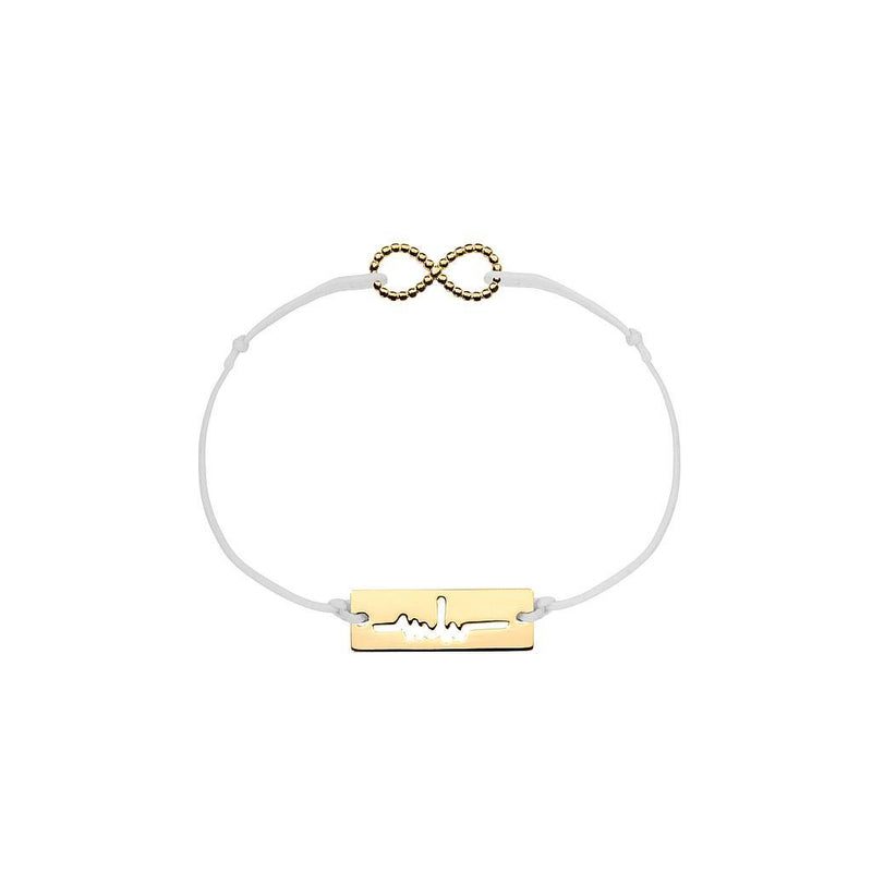 Infinity Charm Jewelry marina-hoermanseder 925 Silver Gold Plated Light Gray
