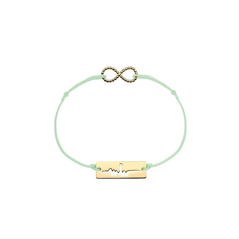 Infinity Charm Jewelry marina-hoermanseder 925 Silver Gold Plated Pale Green